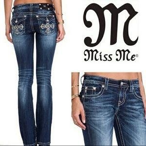 Miss me | 27 | bootcut cross flap pocket jeans
